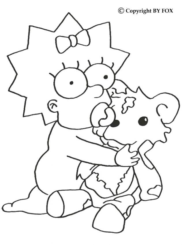 638x850 Cute Maggie Simpson Coloring Pages Cute Coloring Pages Easy