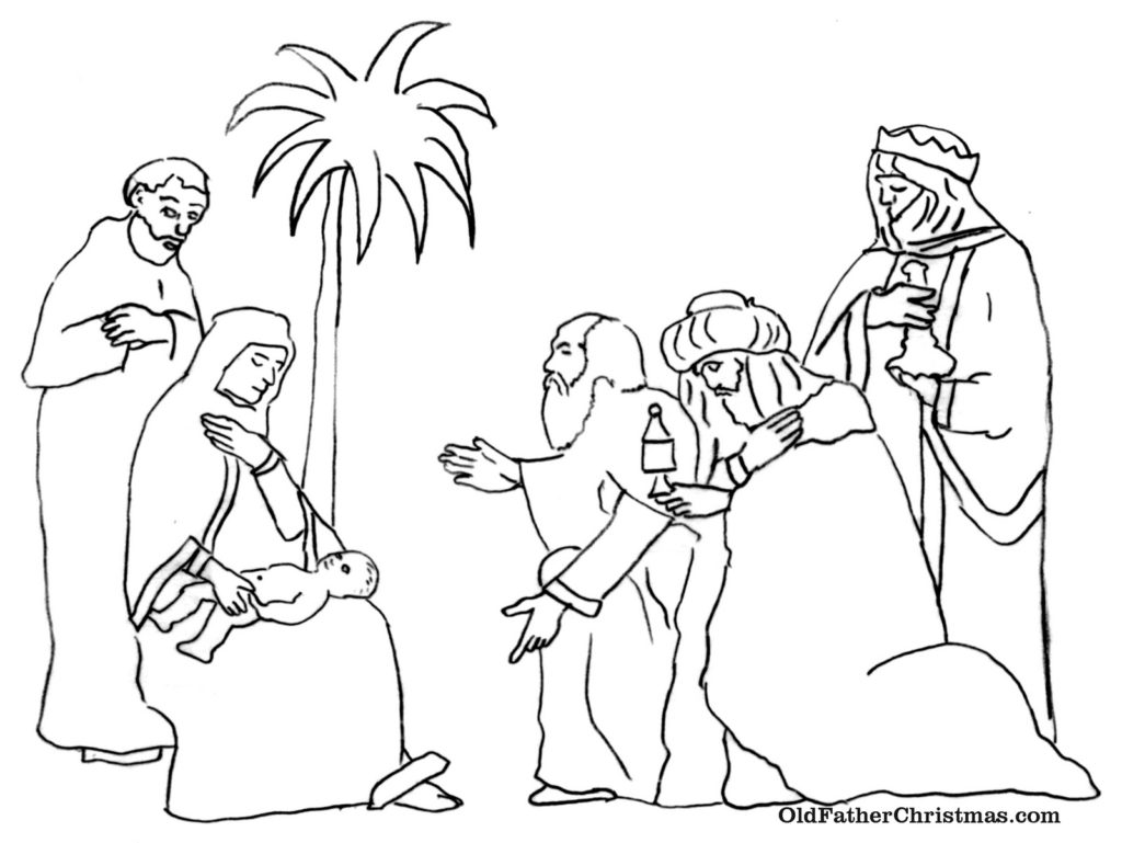 1024x769 Free Coloring Pages Of The Three Wise Men