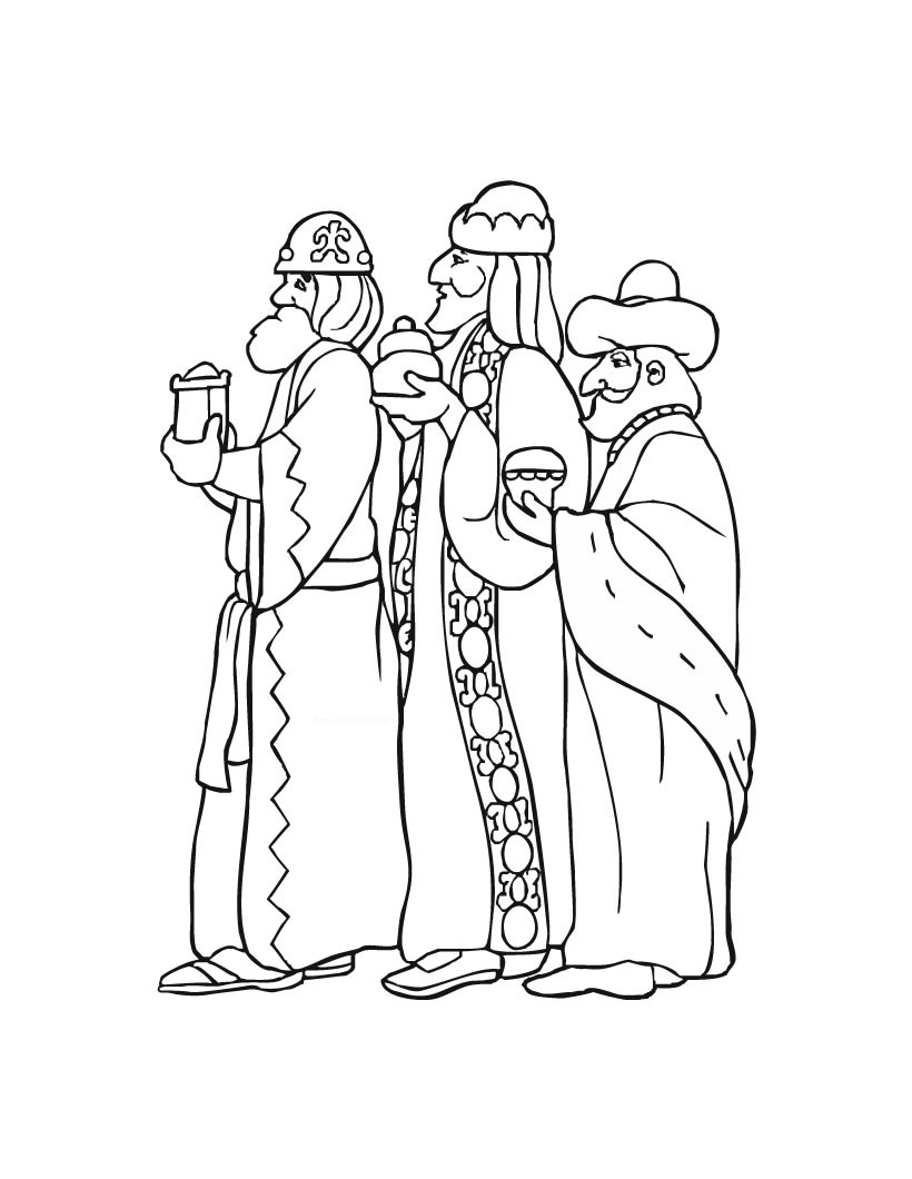 820x1060 Three Kings Day Celebration Coloring Pages