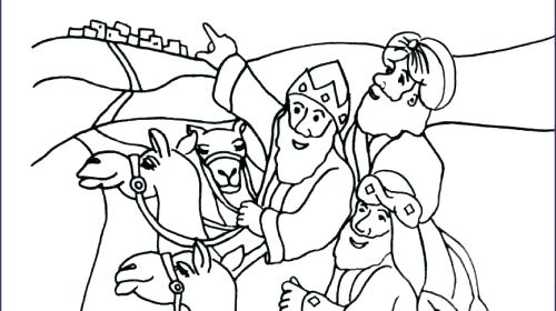 500x280 Wise Men Coloring Page Wise Men Coloring Pages Coloring Pages
