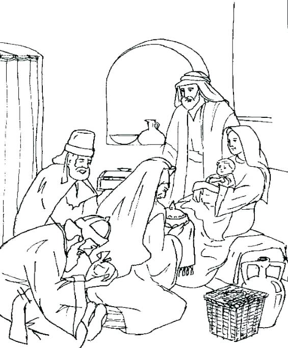 565x682 Wise Men Coloring Pages At The Nativity Coloring Page Coloring