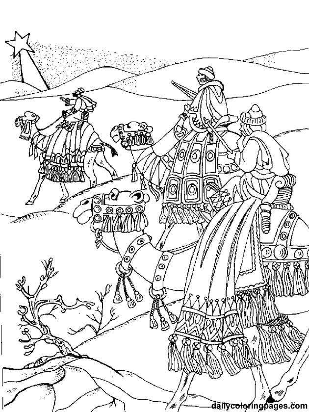 630x840 Wise Men Coloring Page Printable