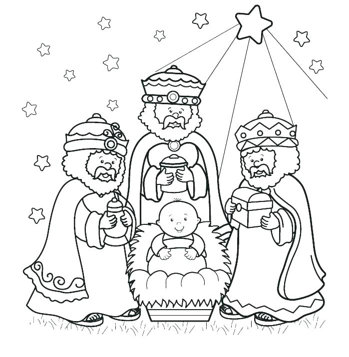 699x716 Wise Men Coloring Pages Wise Men Coloring Pages How To Draw
