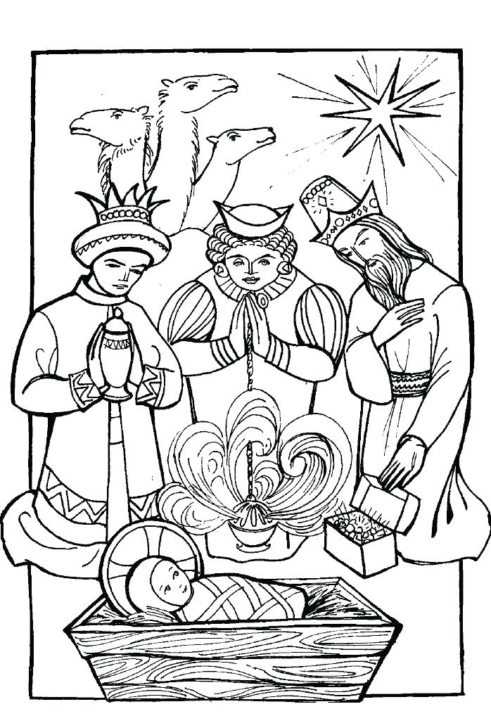 698x1018 Three Kings Coloring Pages
