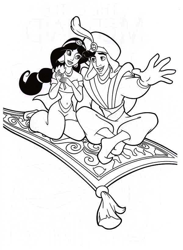 600x820 Aladdin And Jasmine In The Night Journey With Magic Carpet