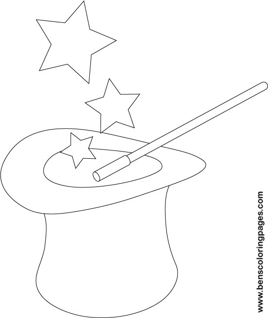 552x655 Magic Hat Coloring Pages