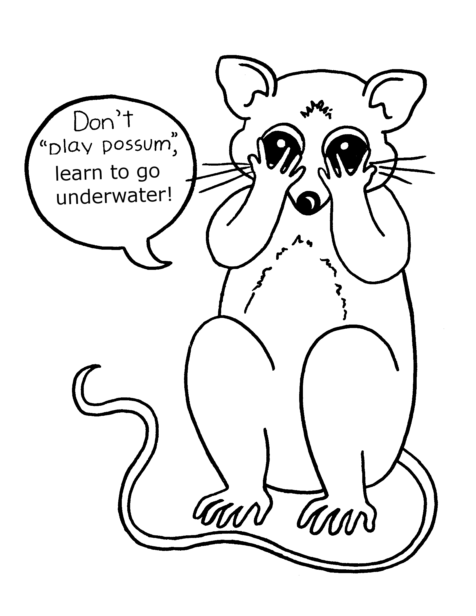 1653x2139 Possum Coloring Pages