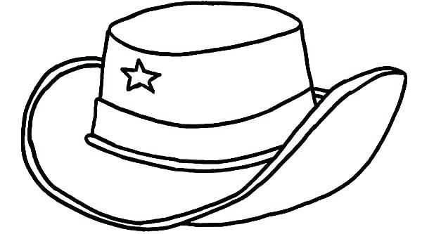 600x333 Cowboy Hat Coloring Page Cowboy Hat Coloring Pages Hat To Color