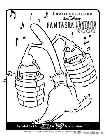 364x470 Fantasia Magic Broom Coloring Page