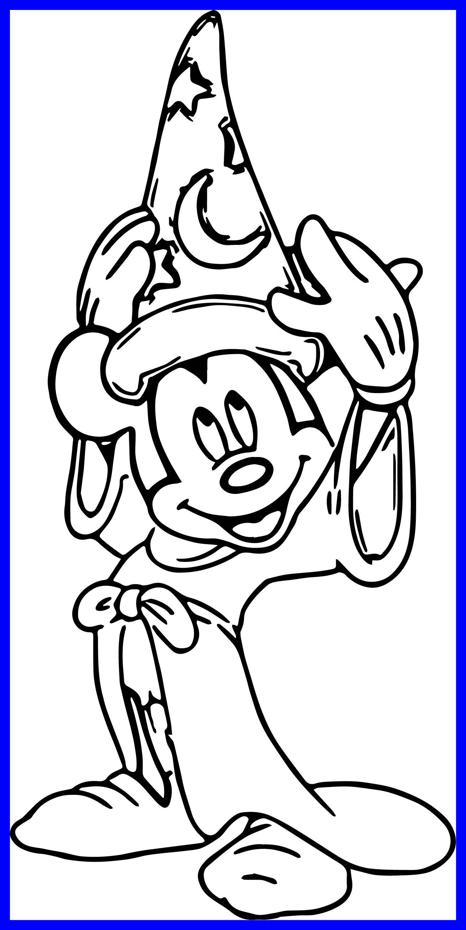 1606x3201 Fascinating Magic Mickey Mouse Hat Coloring Pages Wecoloringpage