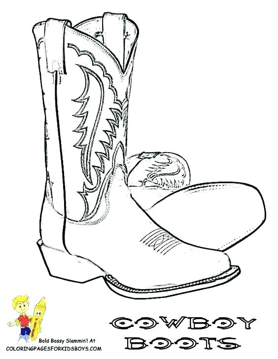 564x729 Boot Coloring Page Cowboy Coloring Page Cowboy Boot Coloring Page