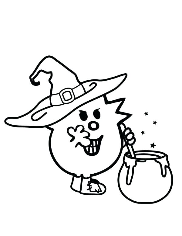 600x776 Mr Men Coloring Pages Zombie Witches Magic Potion In Men