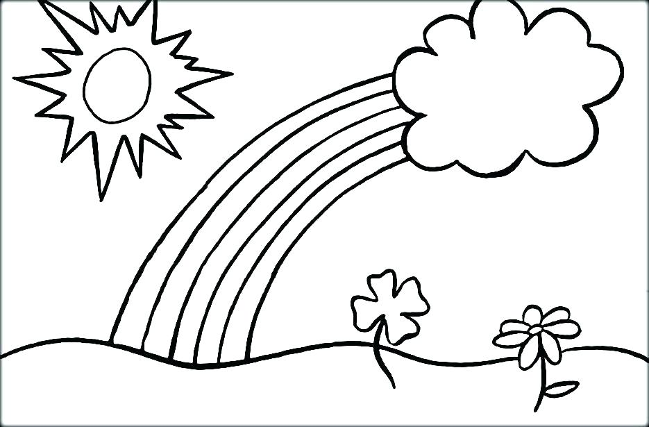 935x615 Printable Rainbow Coloring Page Free Rainbow Coloring Pages