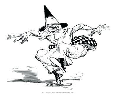 400x322 Coloring Page Hat Leversetdujourinfo Witch Hat Coloring Page