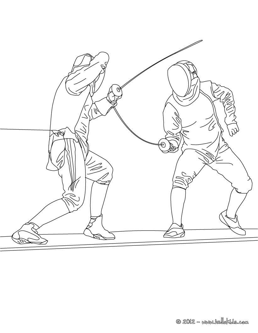 821x1061 Fencing Sport Coloring Page Preschool Scavenger Hunt