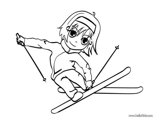 620x480 Skiing Girl Coloring Page You Will Find Your Favorite Coloring