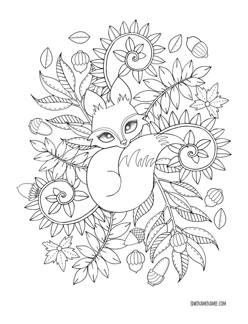 830x1083 Autumn Magic Edwina Mc Namee Coloring Pages