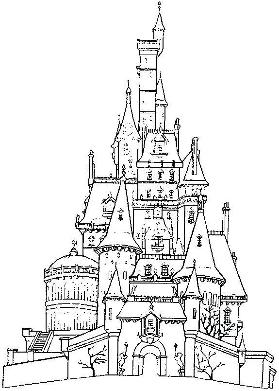 575x804 Disney Castle Coloring Page Castle Coloring Pages Top Rated Castle