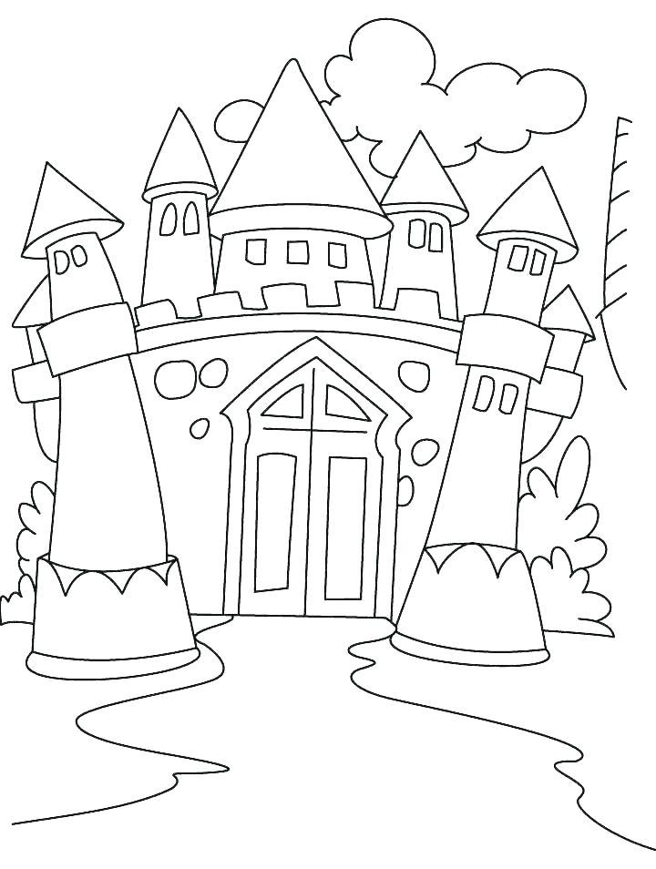 720x954 Disney Castle Coloring Pages Castle Coloring Pages Ideal Snapshot