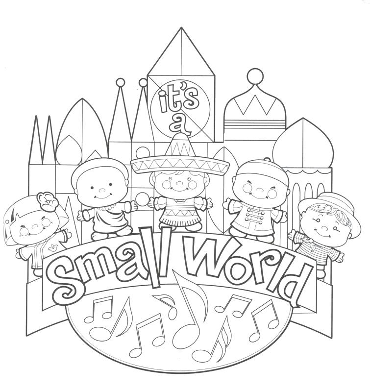 755x800 Disney World Coloring Pages Together With The World Coloring Pages