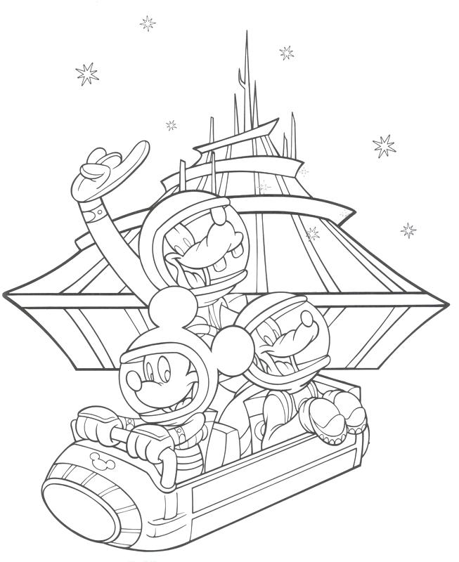 653x800 Excellent Disneyland Coloring Pages Magic Kingdom Monarail Space