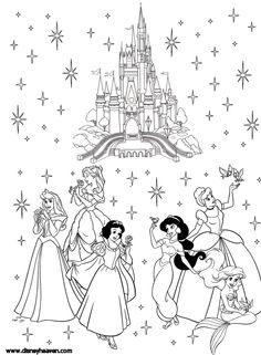 236x321 Free Disney Coloring Page Features Cinderella's Castle And All