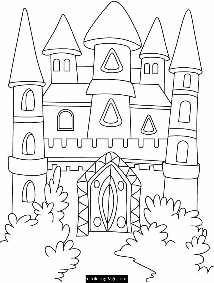 720x954 Disney Castle Coloring Pages, Disney Princess Castle Coloring
