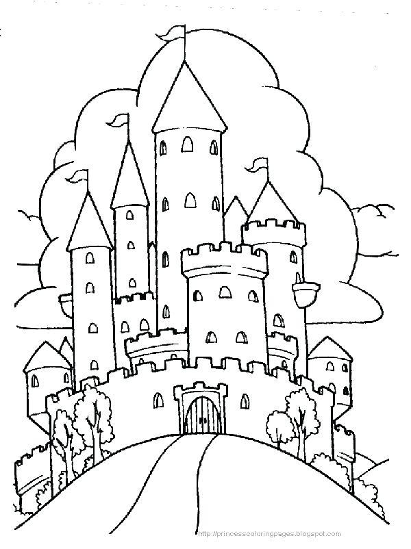 600x802 Castle To Color