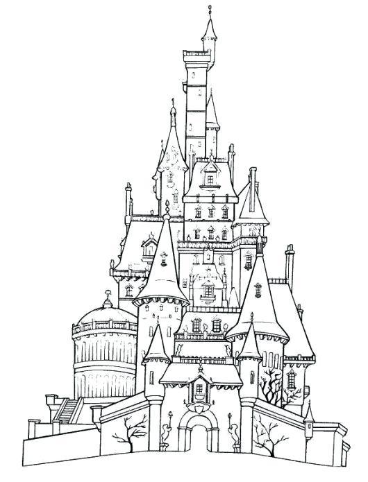 530x695 Disney Castle Coloring Pages