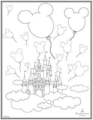 310x400 Castle Coloring Page Camp Mickey Minnie