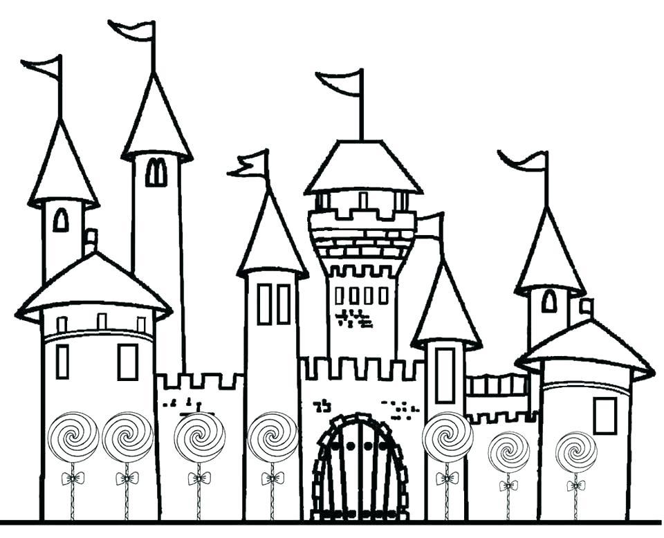 960x778 Cinderella Castle Coloring Pages Castle Coloring Pages Disney