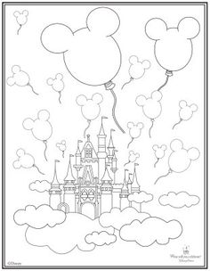 Magic Kingdom Coloring Pages
