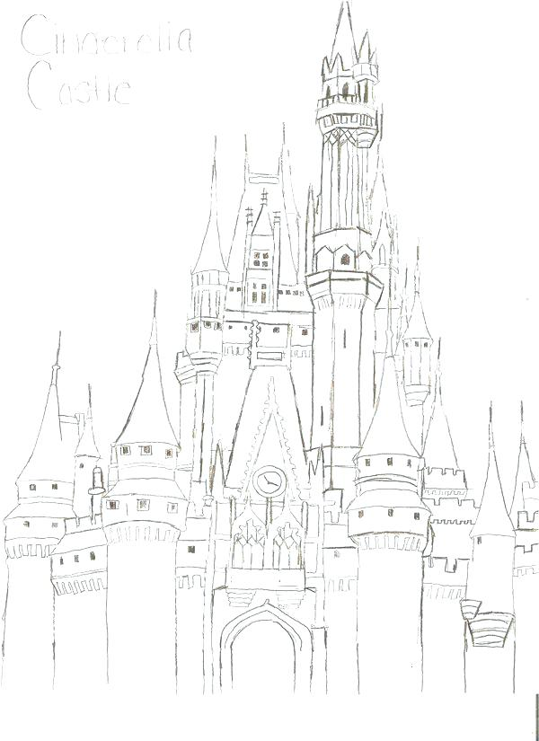 600x825 Disney Castle Coloring Page Magic Kingdom Coloring Page Color Me