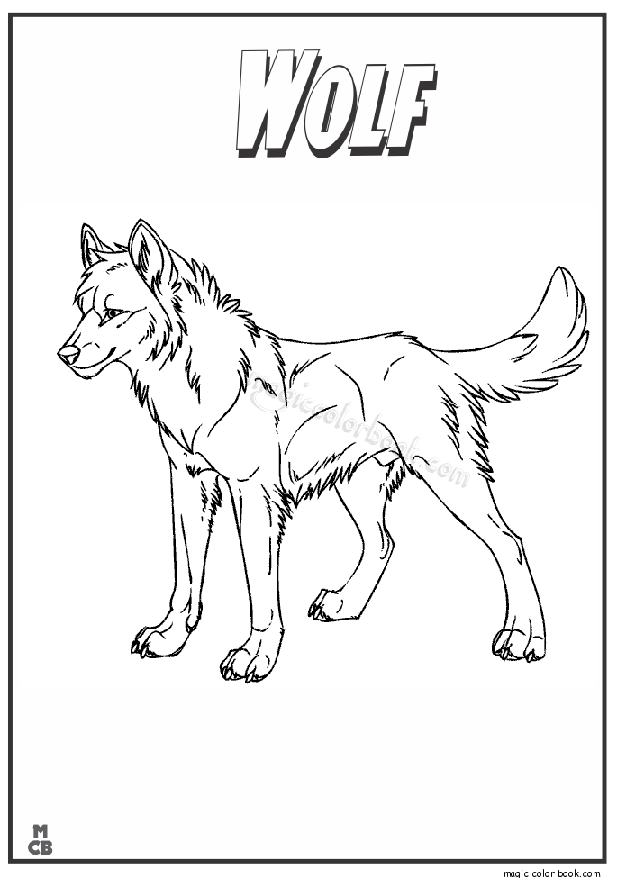 685x975 Wolf Animal Coloring Book Pages