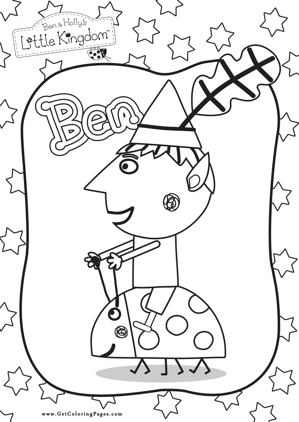 1024x1448 Ben And Holly Coloring Pages