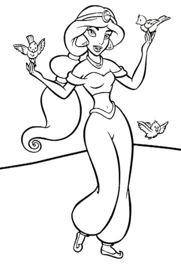360x525 Jasmine Colouring Pages And The Magic Lamp Coloring Baby Murs