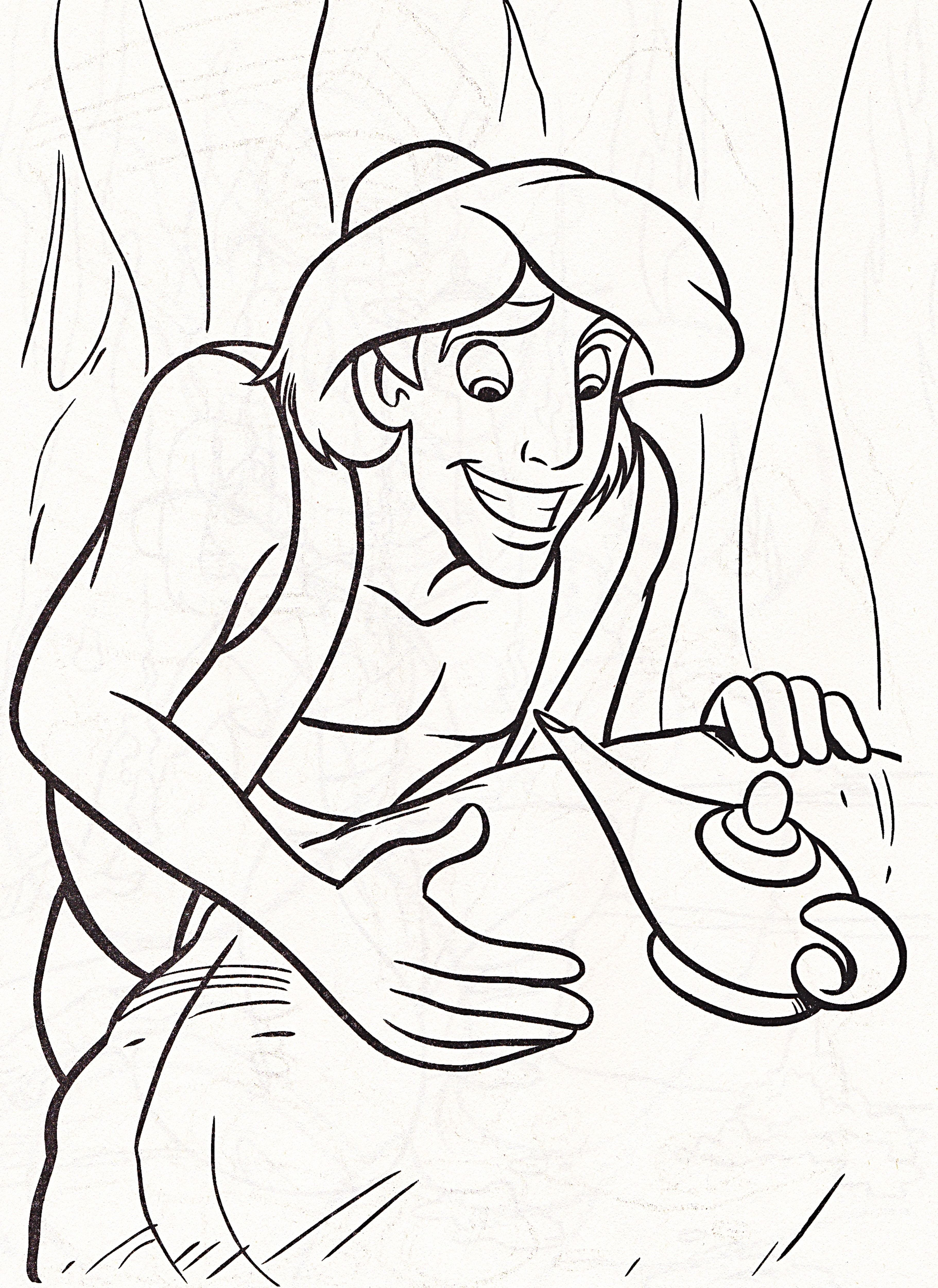 3643x5000 Aladdin And Magic Lamp Coloring Pages Coloring Pages