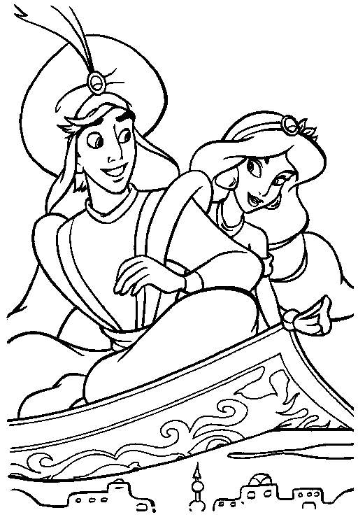 512x759 Aladdin And The Magic Lamp Coloring Pages Coloring Pages