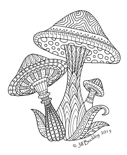 Magic Mushroom Coloring Pages