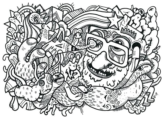 640x464 Trippy Mushroom Coloring Pages Magic Mushrooms Psychedelic