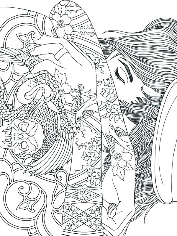 600x797 Trippy Mushroom Coloring Pages Mushroom Coloring Page