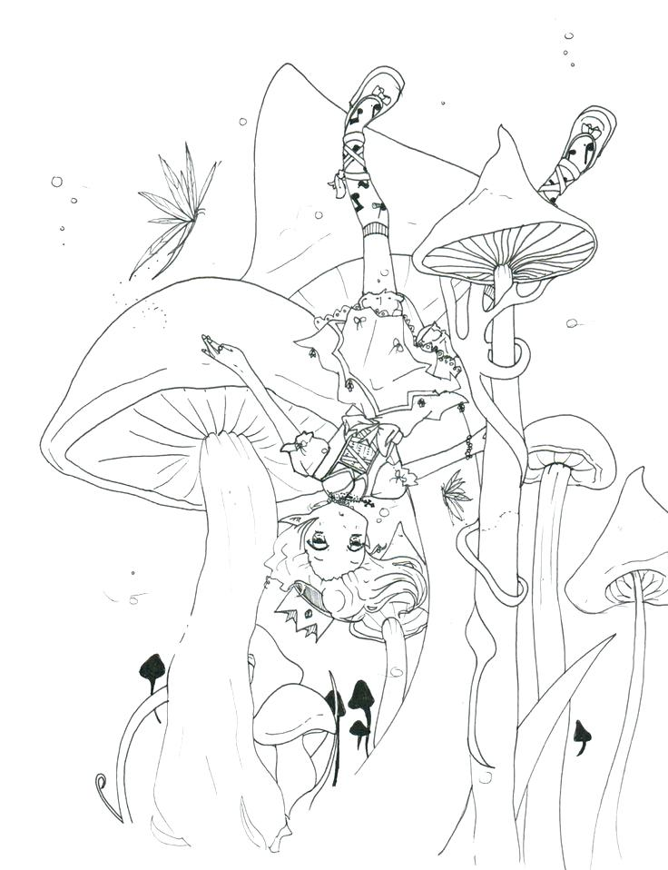 736x958 Trippy Mushroom Coloring Pages Mushrooms Coloring Page