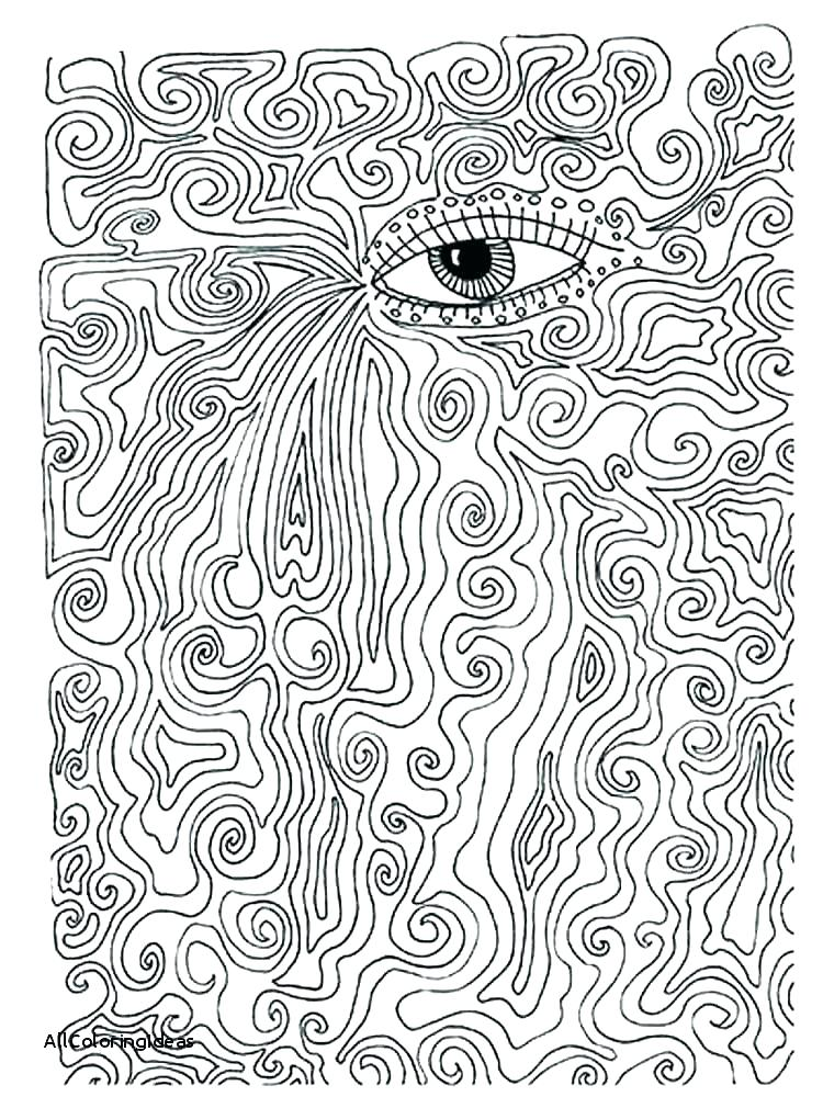 750x1000 Psychedelic Coloring Pages