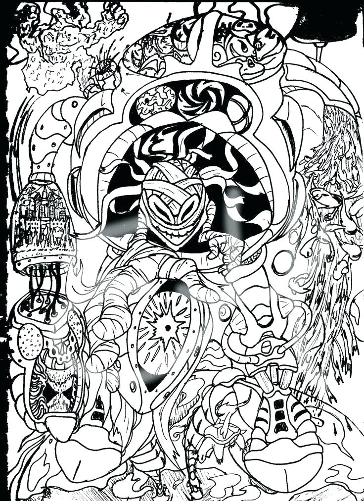 736x1012 Psychedelic Coloring Pages Psychedelic Coloring Pages For Adults