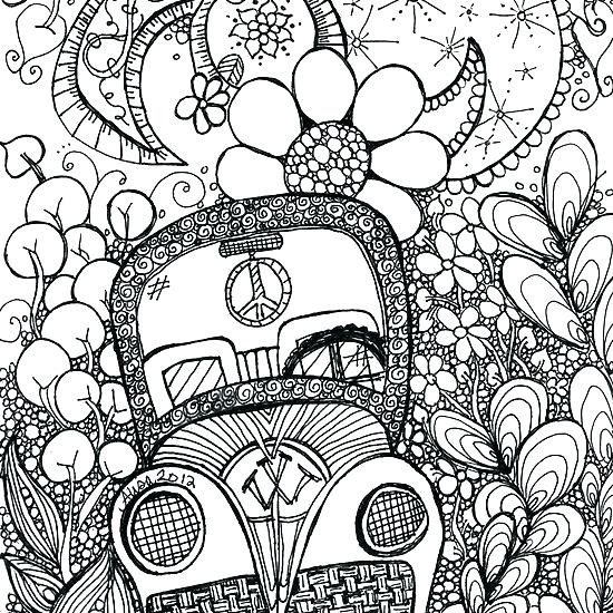 550x550 Trippy Coloring Pages Adult Difficult Psychedelic Coloring Pages