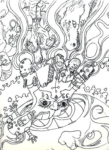 364x500 Trippy Coloring Pages Magic Mushrooms Psychedelic Mushroom