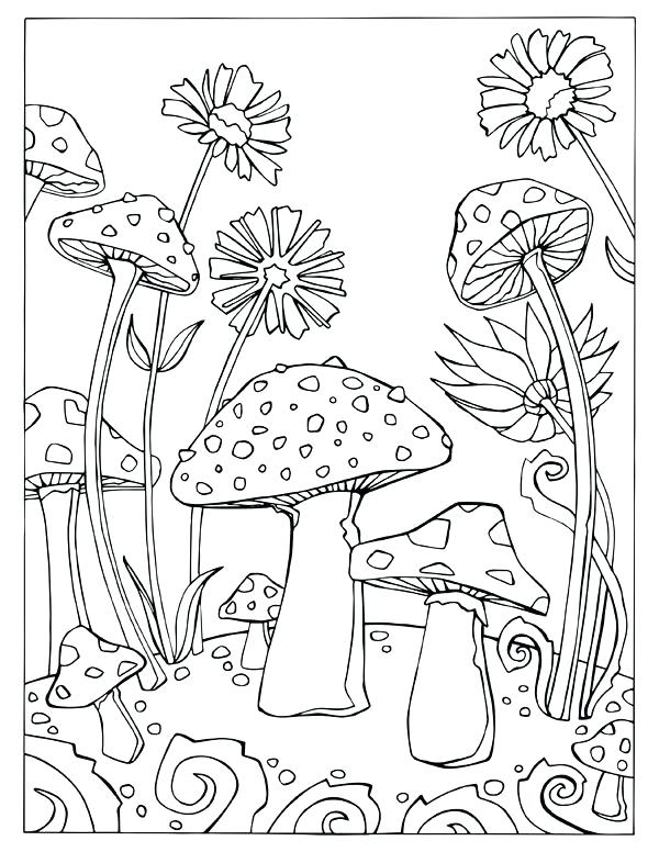 600x776 Trippy Mushroom Coloring Pages Magic Mushrooms Mushroom Coloring