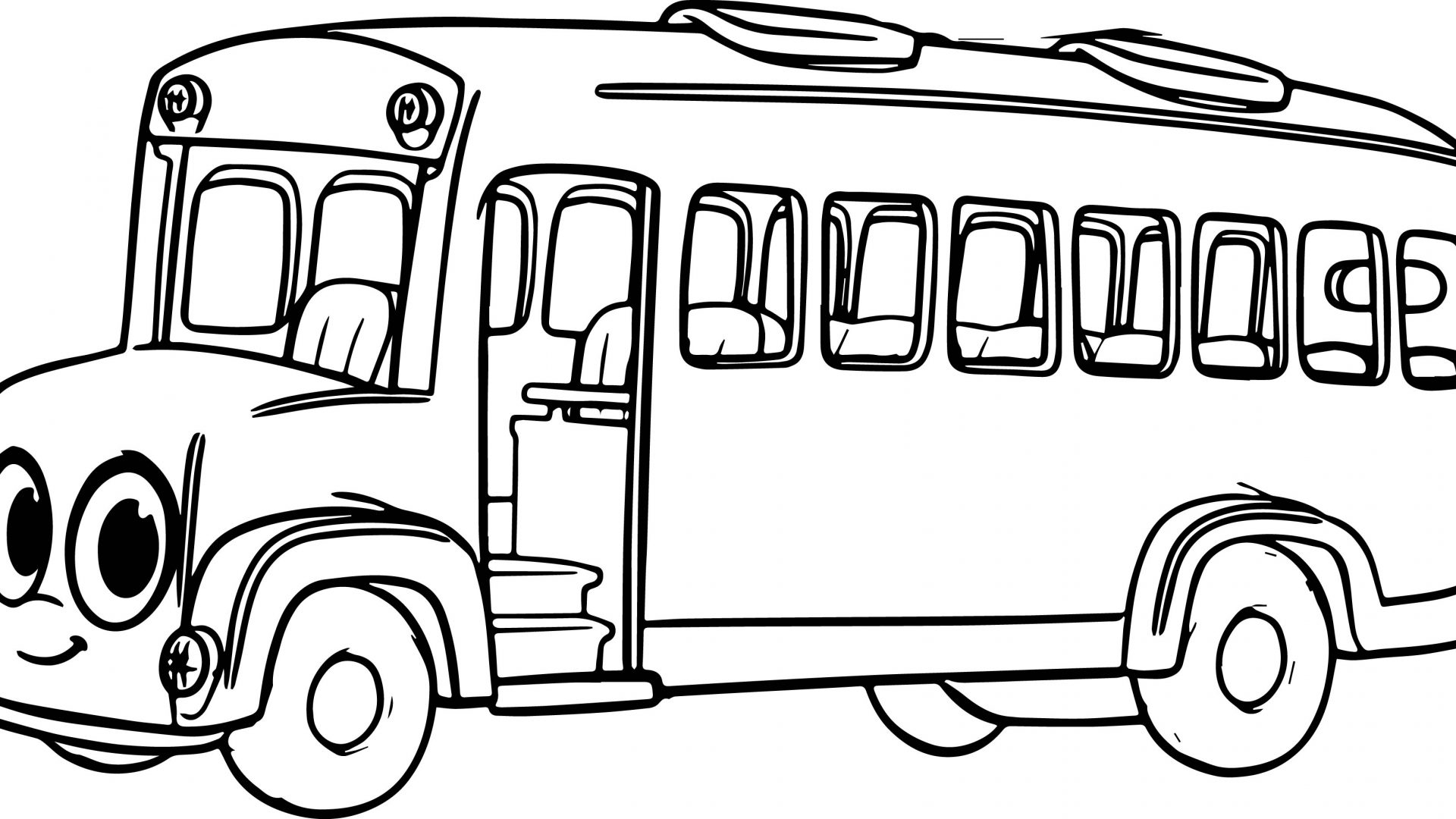 1920x1080 Fresh School Bus Coloring Page Free Printable Pages In Auto Market