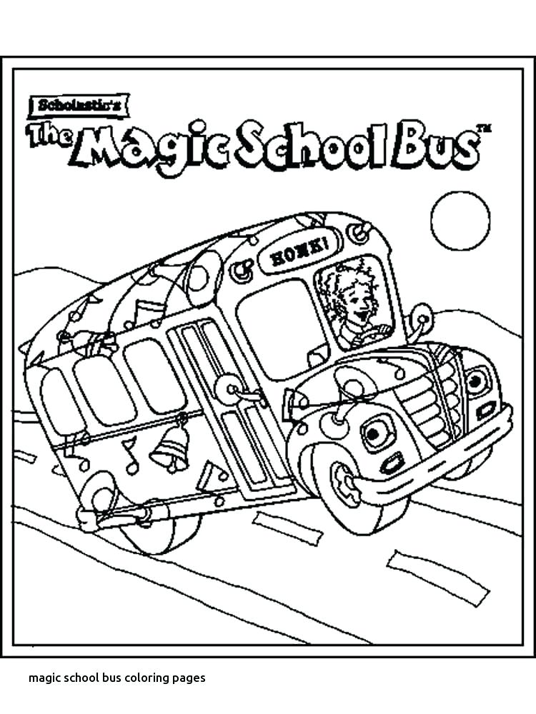 750x1000 Magic School Bus Coloring Page Coloring Pages School Bus For Magic