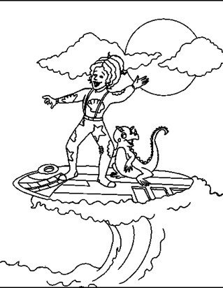319x412 Magic School Bus Coloring Pages All Kids Network